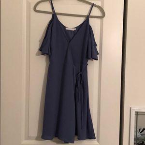 Dry Goods blue wrap dress